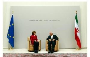 Mme Catherine Ashton et M. Mohammad Javad Zarif à Genève
