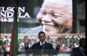 Barack Obama pendant son discours