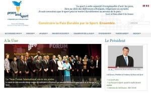 """Le site de """"Peace and Sport"""""""