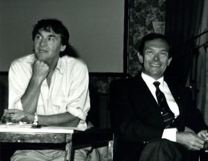 Avec Jean Férignac (à gauche) en 1990