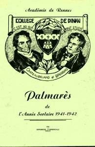 004-1942 Dinan distribution des prix 1941-42