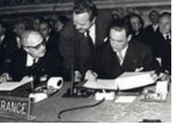 La signature du traité de Rome