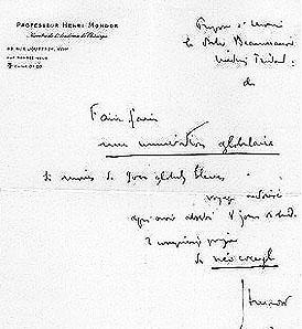 lettre du professeur Mondor