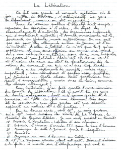 Notes manuscrites de Gilbert Desmoulin