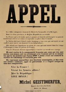 Août 1944 -L'appel du maire Michel Geisdoerfer
