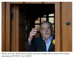 Gabriel Garcia Marquez. le 6 mars 2014