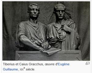 Tiberius et Caius Gracchus oeuvre d'Eugène Guillaume