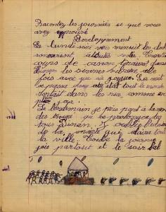 cahier de classe 1944 la liberation