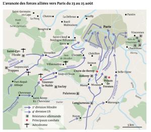 L'avancée des forces alliées - infographie Le Monde