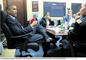 Le président Obama avec ses conseillers