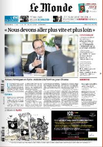 cover du Monde du 21-08-2014