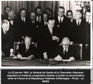 Signature du traité de l'Elysée