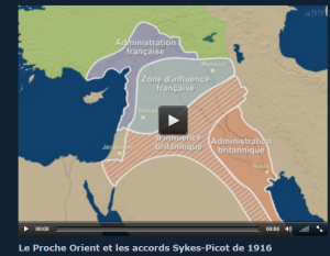 Cartes des accords Sykes-Picot en 1916
