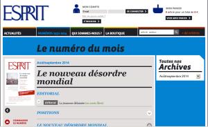 Le site de la revue ESPRIT