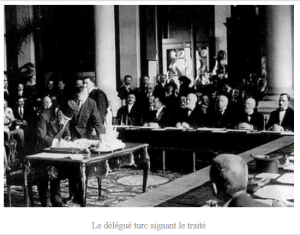 Signature du traité de Sevres en 1920