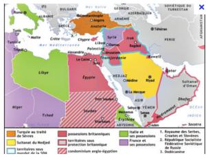 Carte après le traité de Sevres
