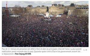 Le 11 janvier 2015, Place de la République