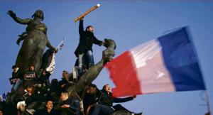 Le 11janvier 2015, Place de la République. Cette photo a fait le tour du monde