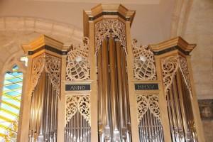 L'orgue qui vient d'être installé dans l'église