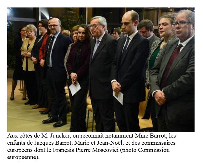 Madame Barrot à la droite de M.Juncker et les enfants de Jacques Barrot