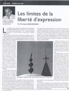 article de Mustapha Benchenane dans la revue Arabies