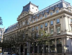 Le siège du Crédit Lyonnais à Paris
