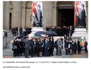 Les funérailles de Richard Descoings