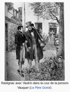 Rastignac et Vautrin à la pension Vauquer