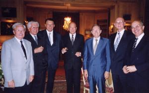 Henry Royer de Linclays était à la droite de Pierre Schwed (au centre) lors du diner d'octobre 2004