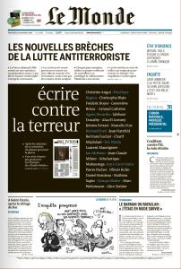 Le Monde la Une du 20-11-2015