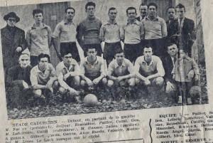 L'équipe de football du Stade Cadurcien en 1949