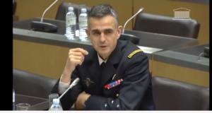 Le général Soubelet pendant son audition par la commission de l'Assemblée nationale
