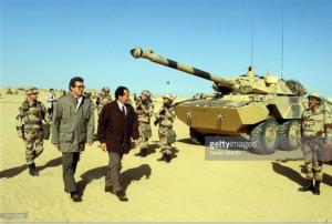 Michel Rocard et Pierre Joxe en 1991, pendant la guerre du Golfe
