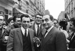 Michel Rocard et Pierre Mendes France en 1968