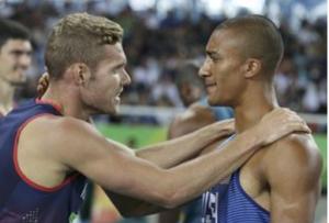 Ashton Eaton ( à droite) et Kévin Mayer à Rio