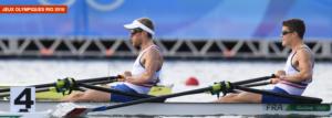 Jérémie Azou et Pierre Houin médaille d'or à l'aviron