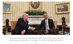 Donald Trump et Barak Obama